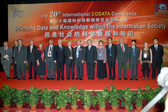 20th International CODATA Conference, Beijing 2006 - Main participants